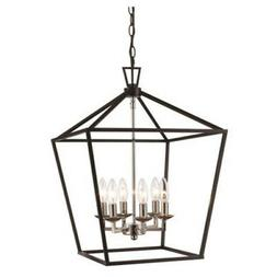 """Trans Globe Lighting 10266  Lacey 6 Light 16"""" Wide Taper Can"""