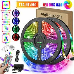 16.4FT RGB Flexible 300LED Strip Light SMD Remote Fairy Ligh