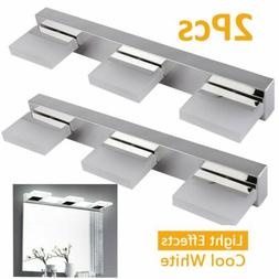 2 Pcs Bathroom Vanity Light 360°Rotation LED Wall Lamp Cabi