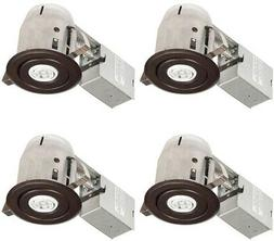 3 in. Recessed Lighting Kit IC Rated Swivel Round Trim with