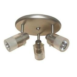 """3 Light Brushed Steel Ceiling 6.3""""h x 9.45""""w x 9. Brushed St"""