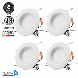 4 TORCHSTAR 15W 6-inch Retrofit Recessed LED Light, Dimmable
