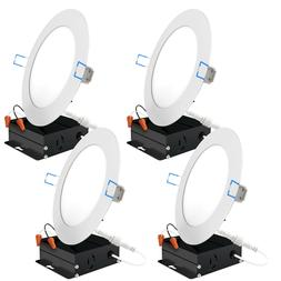 Sunco 4 Pack 6-inch Slim Recessed LED Downlight 14W  Dimmabl