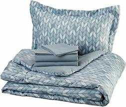 AmazonBasics 5-Piece Bed-In-A-Bag - Twin/Twin Extra-Long, Gr