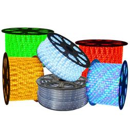 50/100/150/300ft LED Rope Light In/Outdoor Cuttable Flexible