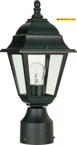 Nuvo Lighting 60/548 One Light Lantern Post Mount, Black
