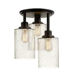 Globe Electric 65904 Annecy 3 Light Semi Flush Ceiling Light