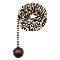 Westinghouse 7729000 Walnut Wooden Ball Pull Chain, Antique