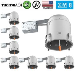8 PACK 6-INCH REMODEL CAN AIR TIGHT IC UL RECESSED HOUSING L