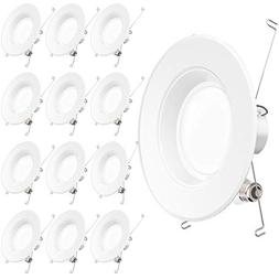 Sunco Lighting 12 Pack 5/6 Inch LED Recessed Downlight, Baff