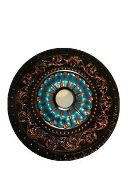 "Beautiful Hand Painted Ceiling Medallion 23 1/2"" Light Cha"