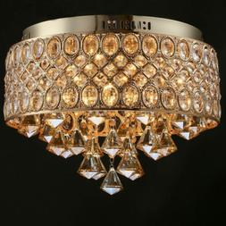 Bedroom Ceiling Light Fixtures K9 Crystal LED Close to Ceili