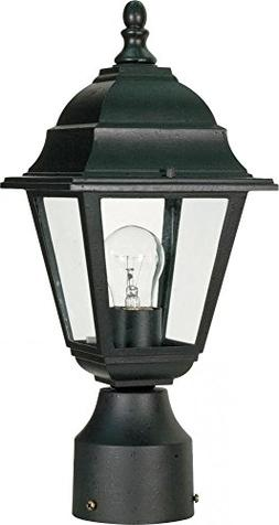 Briton Post Lantern in Textured Black