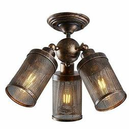 Close to Ceiling Light Fixture Industrial Adjustable, YEPHAL