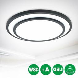 Dimmable Led Flush Mount Ceiling Light Remote Living Room Wa