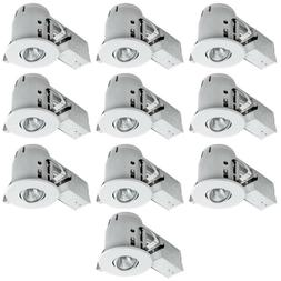 Globe Electric 4 in. White Dimmable Recessed Lighting Kit