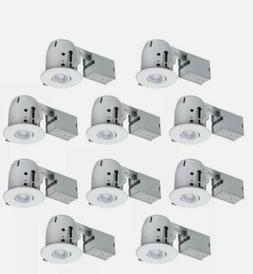 Globe Electric 4 In. White Dimmable Recessed Lighting Kit  D