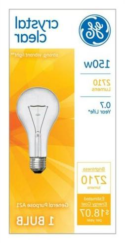 Ge Clear Light Bulbs 150 W 2710 Lumens A21 Med Base 5-3/8 In
