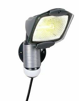 All-Pro 100-Watt 120-Volt Gray Plug-In Motion-Activated Halo