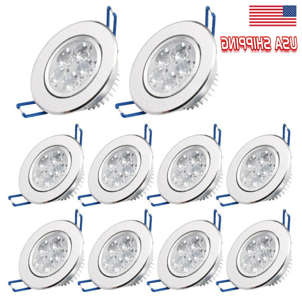 10pcs dimmable led recessed ceiling panel light