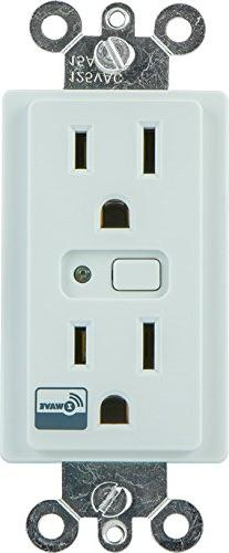 GE 12721 Z-Wave In-Wall On/Off Duplex Receptacle