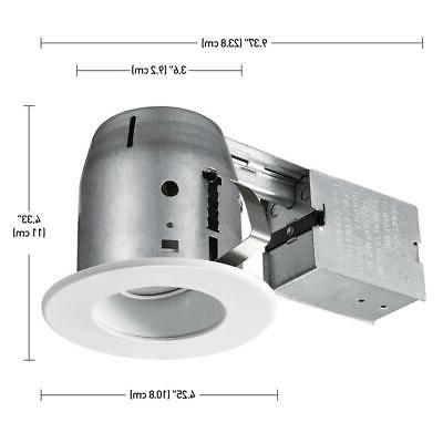 Commercial Electric 4 LED Trim Recessed Lighting Kit
