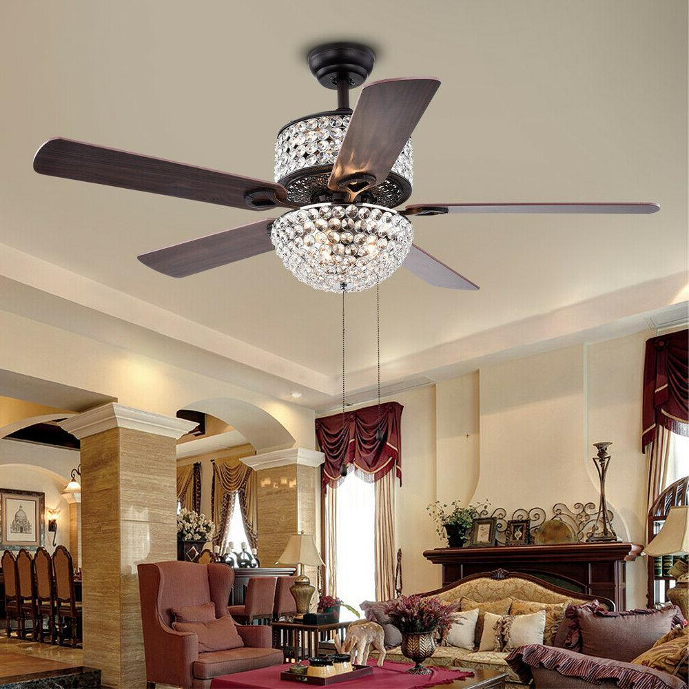 """52"""" Ceiling with Light Dimmable Chandelier Blades"""