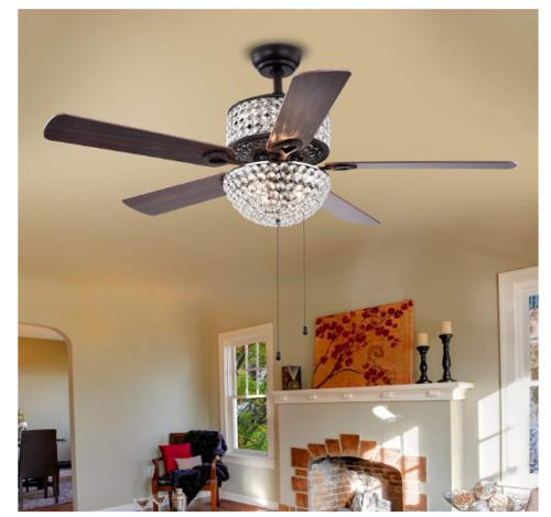 """52"""" Ceiling Fans with LED Chandelier"""