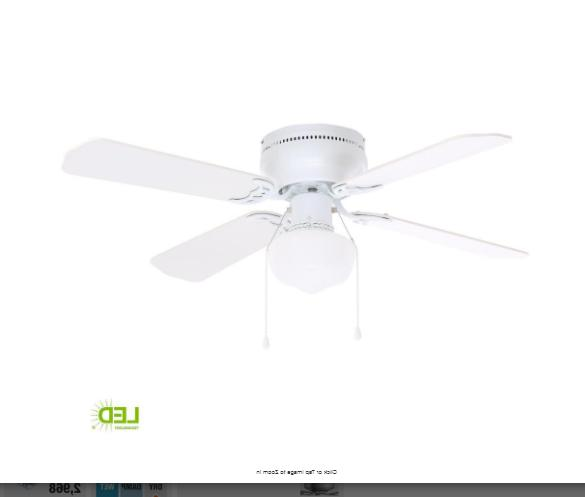 42 in. LED Indoor White Ceiling Fan with Light Kit Littleton