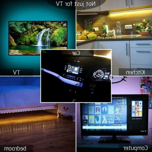5V USB LED Lights TV Back 5050 Changing with Remote