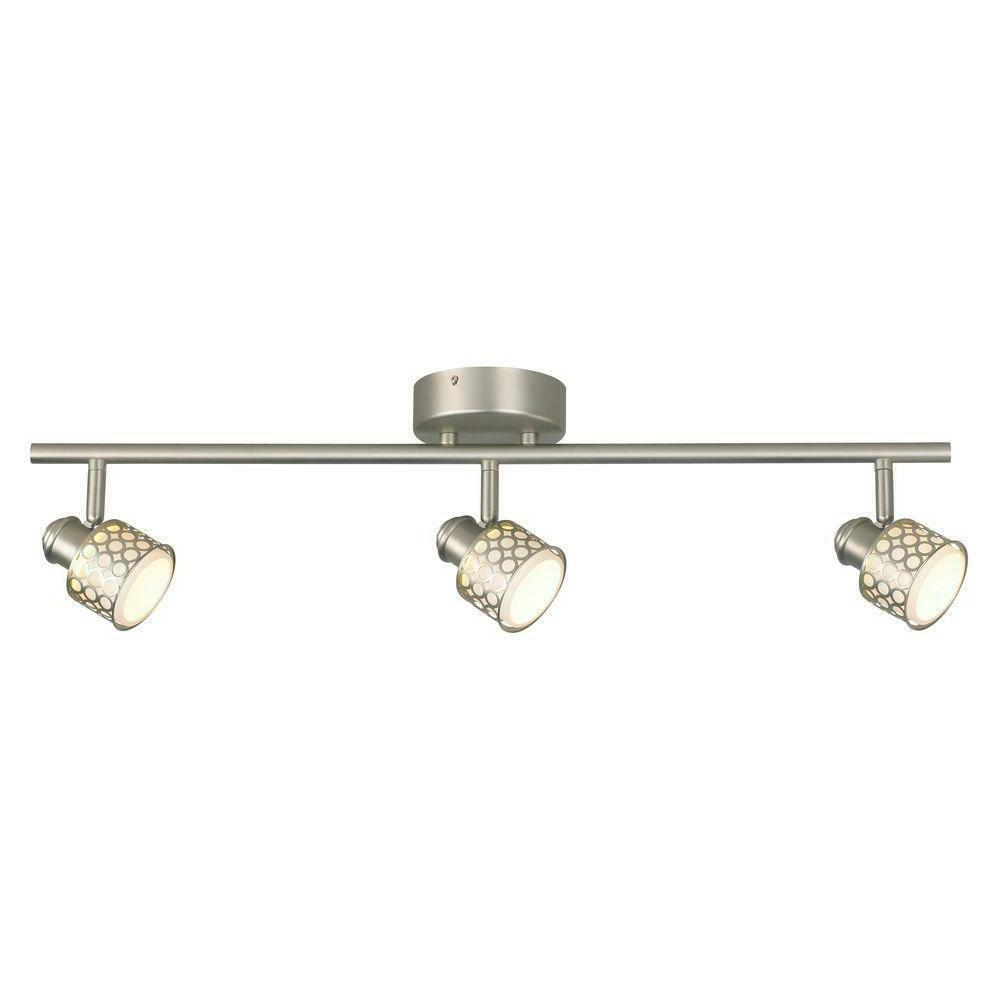 brushed nickel with glass basket 3 light