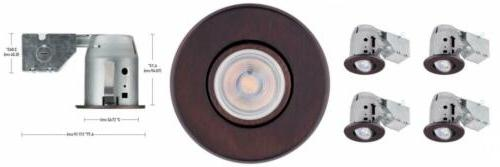 globe electric 90964 recessed 4 pack oil