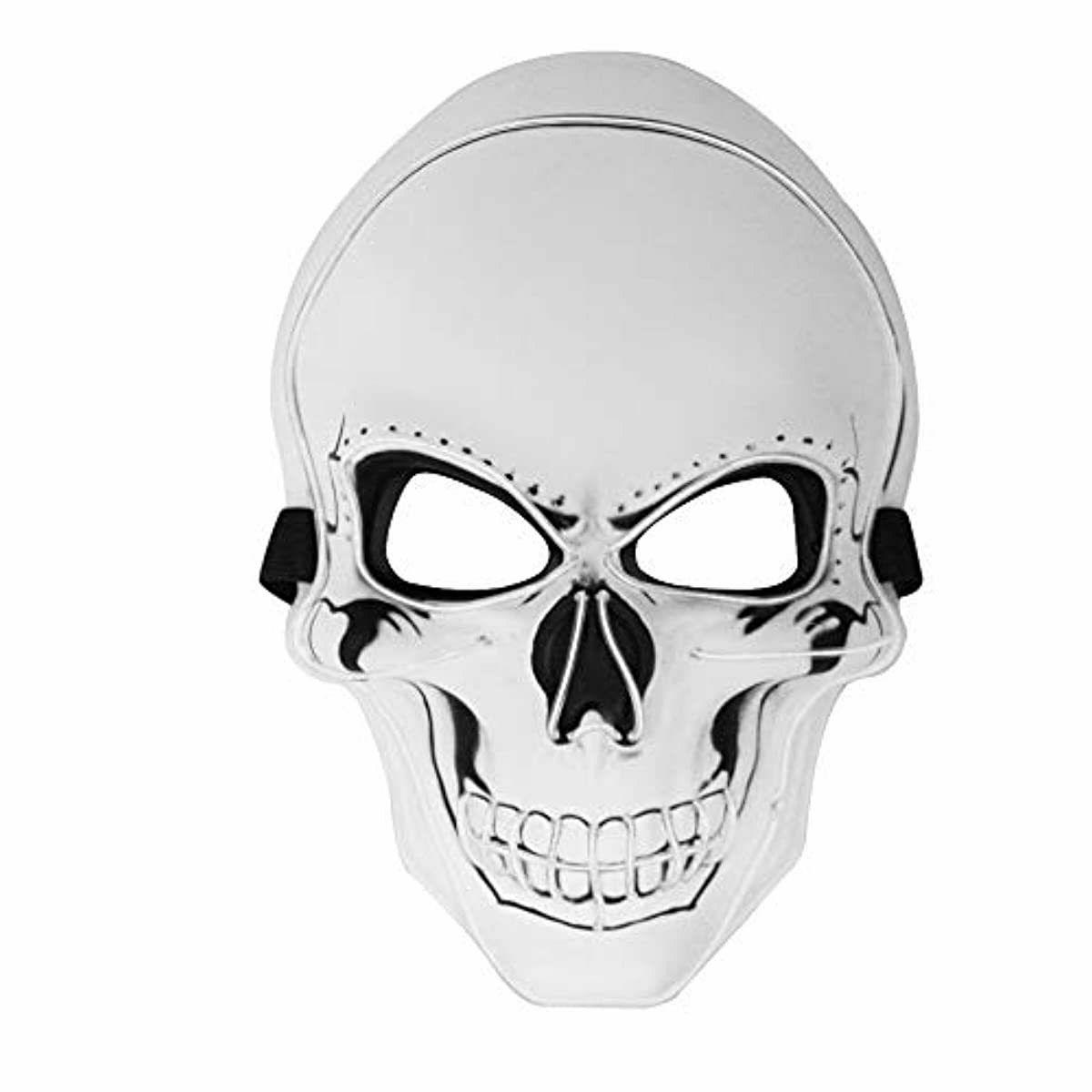 Halloween LED Light Skull Flash EL Wire Costume For Party Cosplay