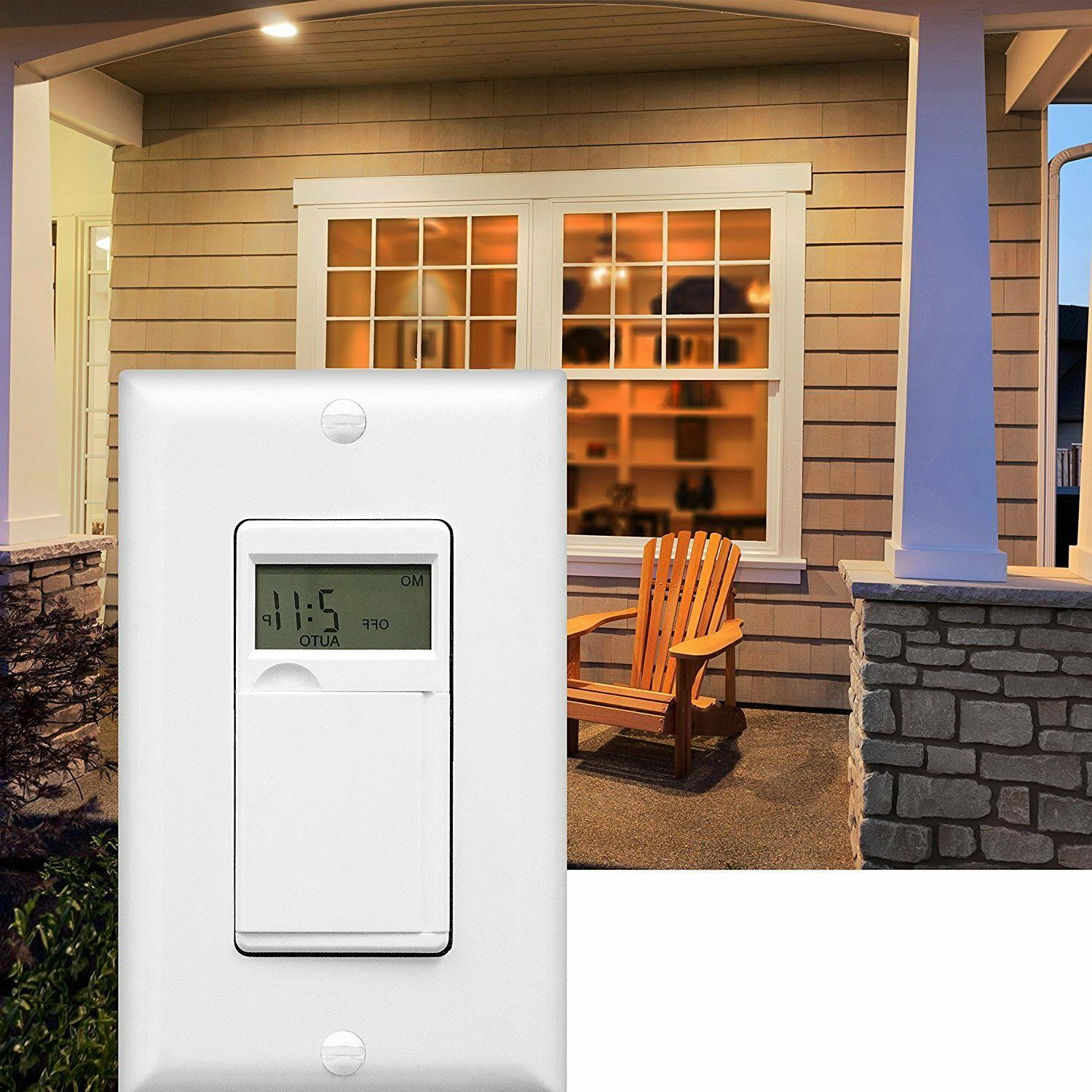 In-Wall Digital Timer Switch Lights, White