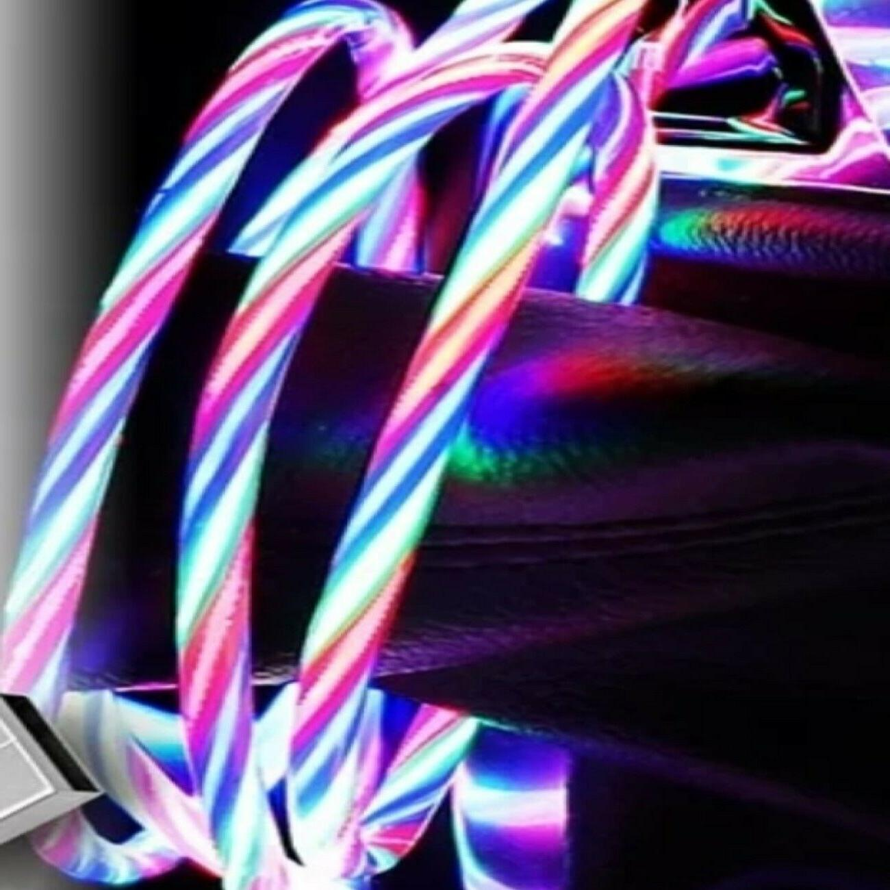 LED Charging Cable USB Cord for Android
