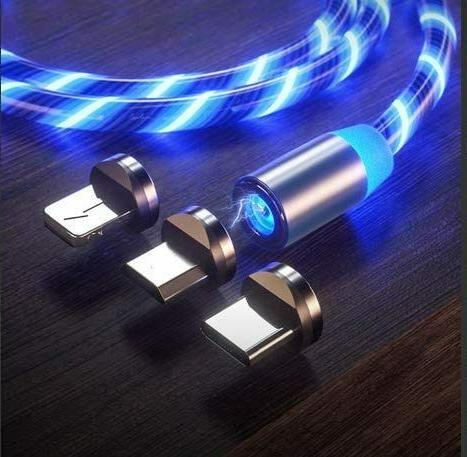 Magnetic USB Phone Lightning Cable for Type C Micro