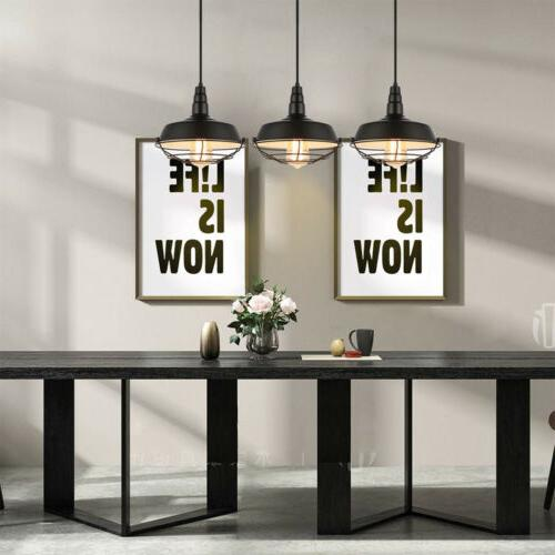 Pendant in Cage Shade Swag Lighting
