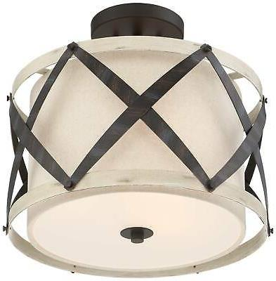 """1/2""""W and Wood Ceiling Light"""