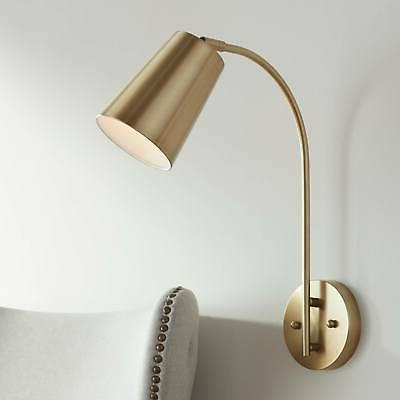 sully warm brass hardwire wall lamp