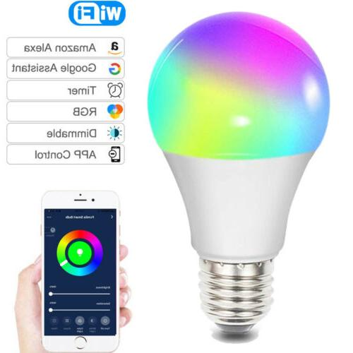Wifi Smart LED Bulb RGBW Dimmable RG