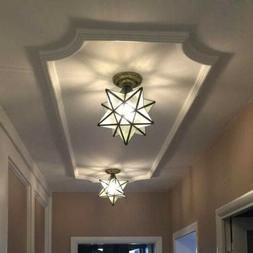 LED Glass Ceiling Lamp Entrance Close to Ceiling Light Bedro