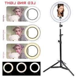 LED Ring Light with Stand Dimmable LED Lighting Kit Makeup L