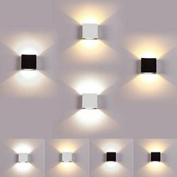 LED Wall Lamp Modern Up Down Sconce Lighting Fixture Cube Li