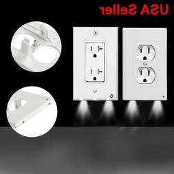 LED Night Angel Wall Outlet Cover Plate Hallway Bathroom Bed