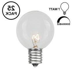25 Pack Light Bulbs G50 Outdoor String Globe Replacement Bul