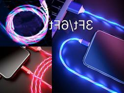 LiliDreamStore LED Light flowing Visible USB Charger Chargin