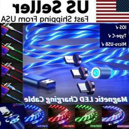 Magnetic LED Light Up USB Phone Lightning Charging Cable For