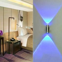Modern LED Wall Light Up Down Cube Indoor Outdoor Sconce Lig