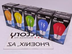 NEW Feit Electric Light Bulb 11W SIGN Incandescent Red Blue