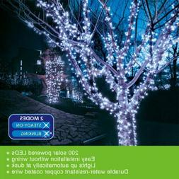 Outdoor Indoor 72ft 200 LED Cool White Solar String Christma